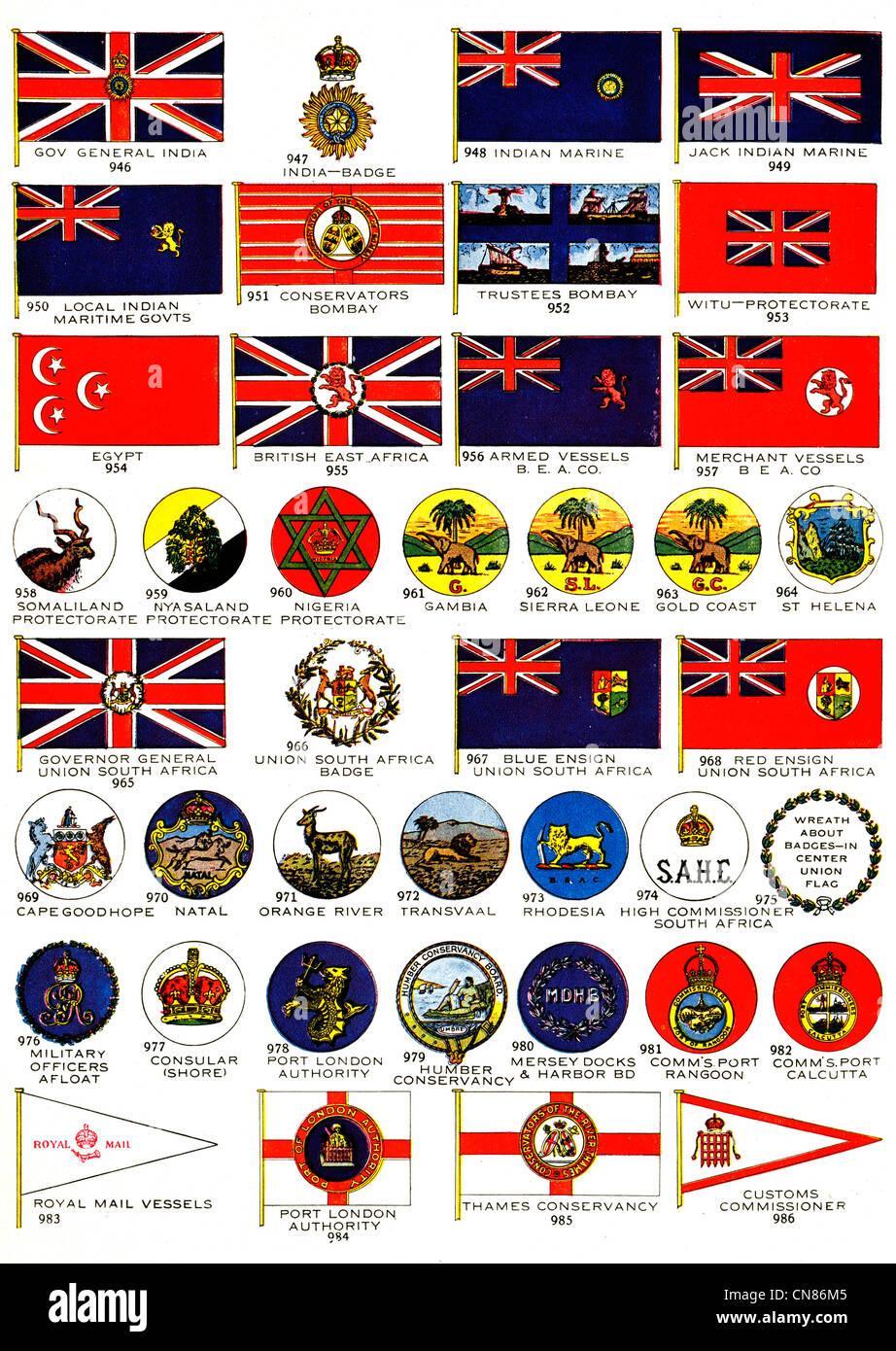 First published 1917 flags flag india badge marine conservators first published 1917 flags flag india badge marine conservators egypt british east africa witu armed vessel nigeria niyasaland biocorpaavc