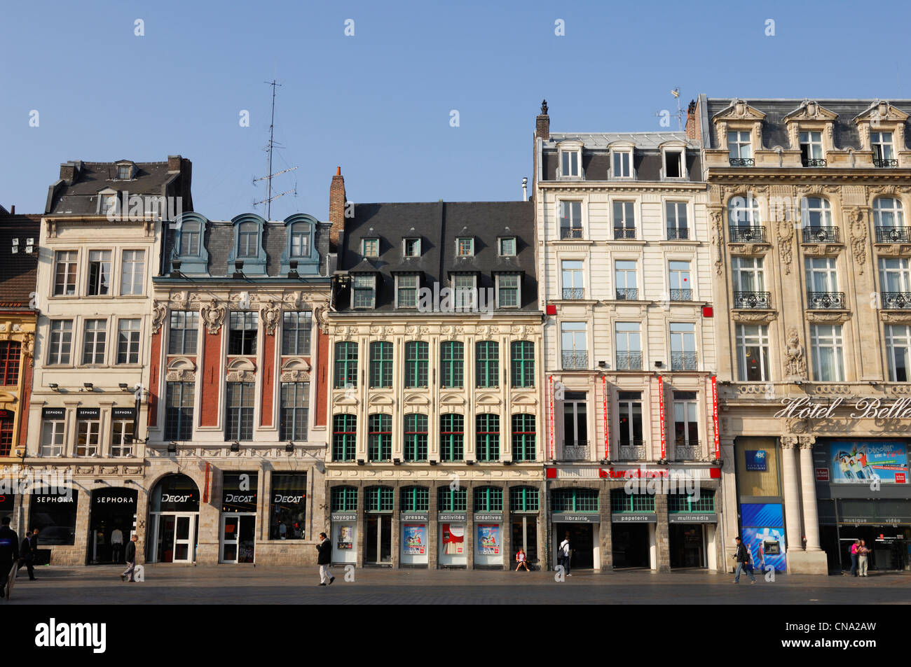 france nord lille facade of the library the furet du nord on the stock photo royalty free. Black Bedroom Furniture Sets. Home Design Ideas