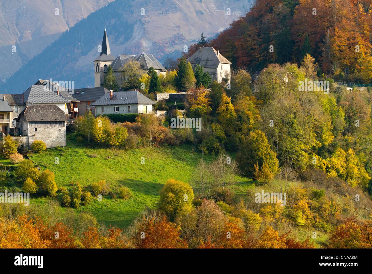 France savoie parc naturel regional du massif des bauges natural stock pho - Le domaine du chatelard ...