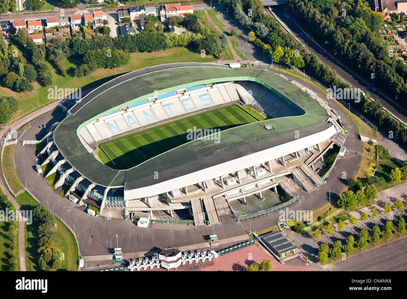 france loire atlantique nantes la beaujoire stadium aerial stock photo royalty free image. Black Bedroom Furniture Sets. Home Design Ideas