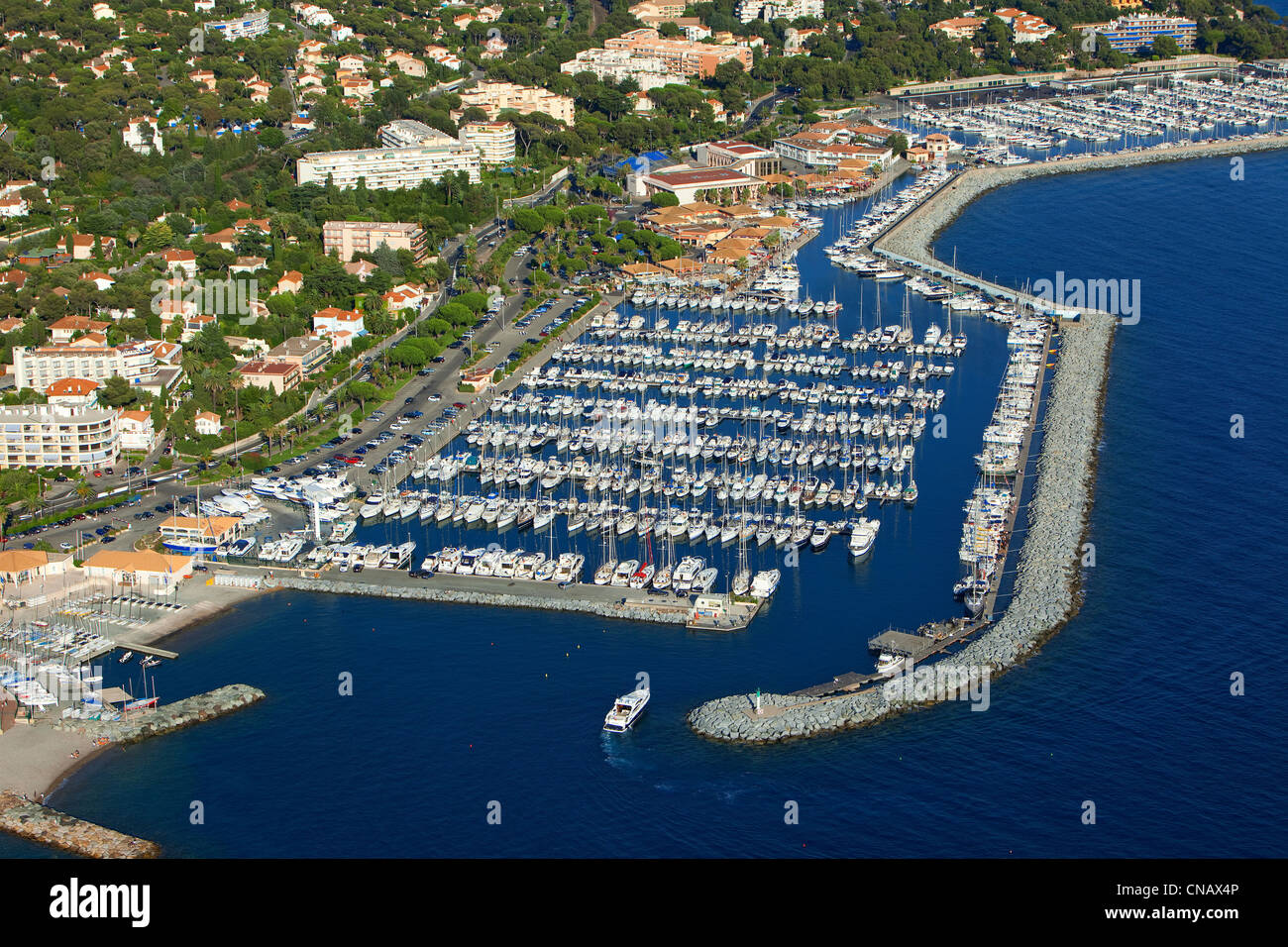 France var saint raphael port of santa lucia aerial - Restaurant port santa lucia st raphael ...