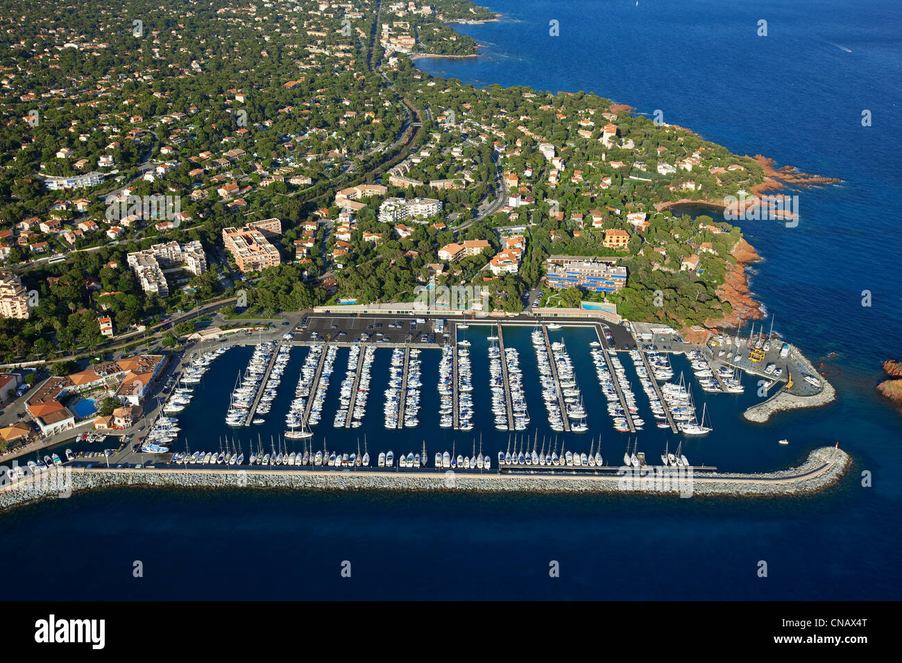 France var saint raphael port of santa lucia aerial view stock photo royalty free image - Restaurants port santa lucia saint raphael ...