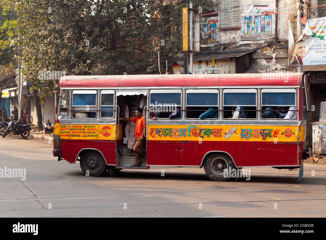 india west bengal kolkata calcutta municipal bus stock photo royalty free image 47590519. Black Bedroom Furniture Sets. Home Design Ideas
