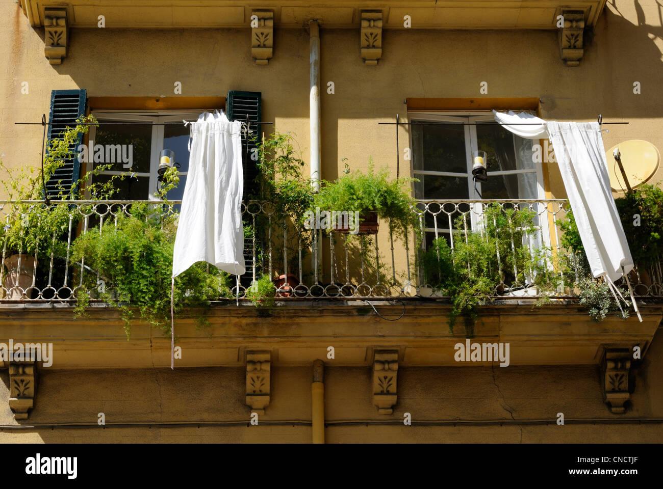 Vorhang balkon gallery of landschaft stil blume stickerei - Balkon gardinen ...