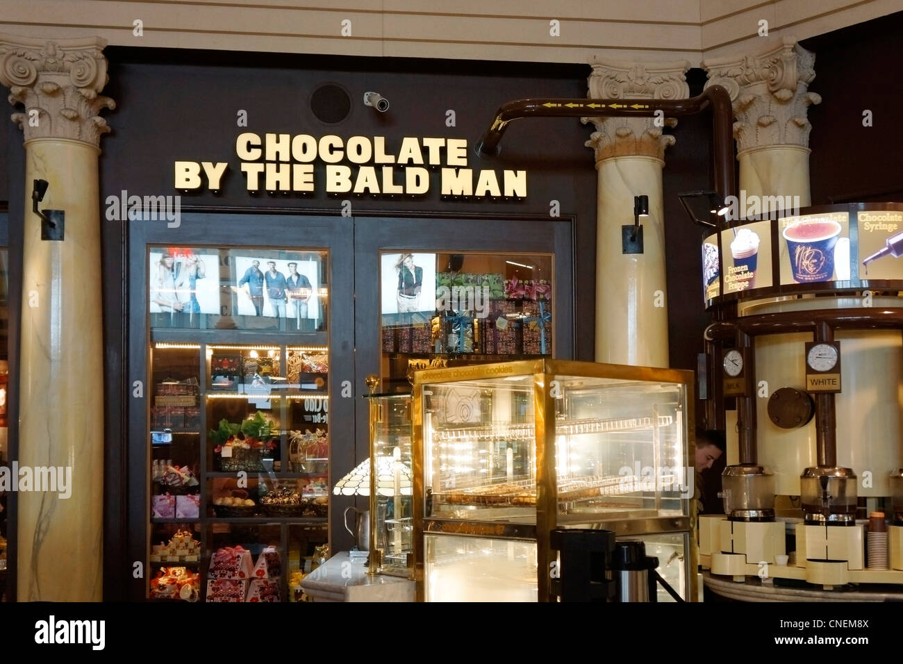 Chocolate by the Bald Man, Max Brenner, Las Vegas, Nevada, USA ...