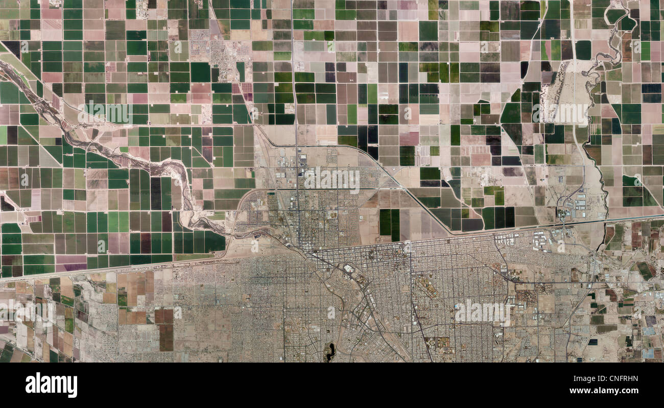Aerial Photo Map Of US Mexican Border Imperial Valley Calexico - Aerial maps over mexican us border