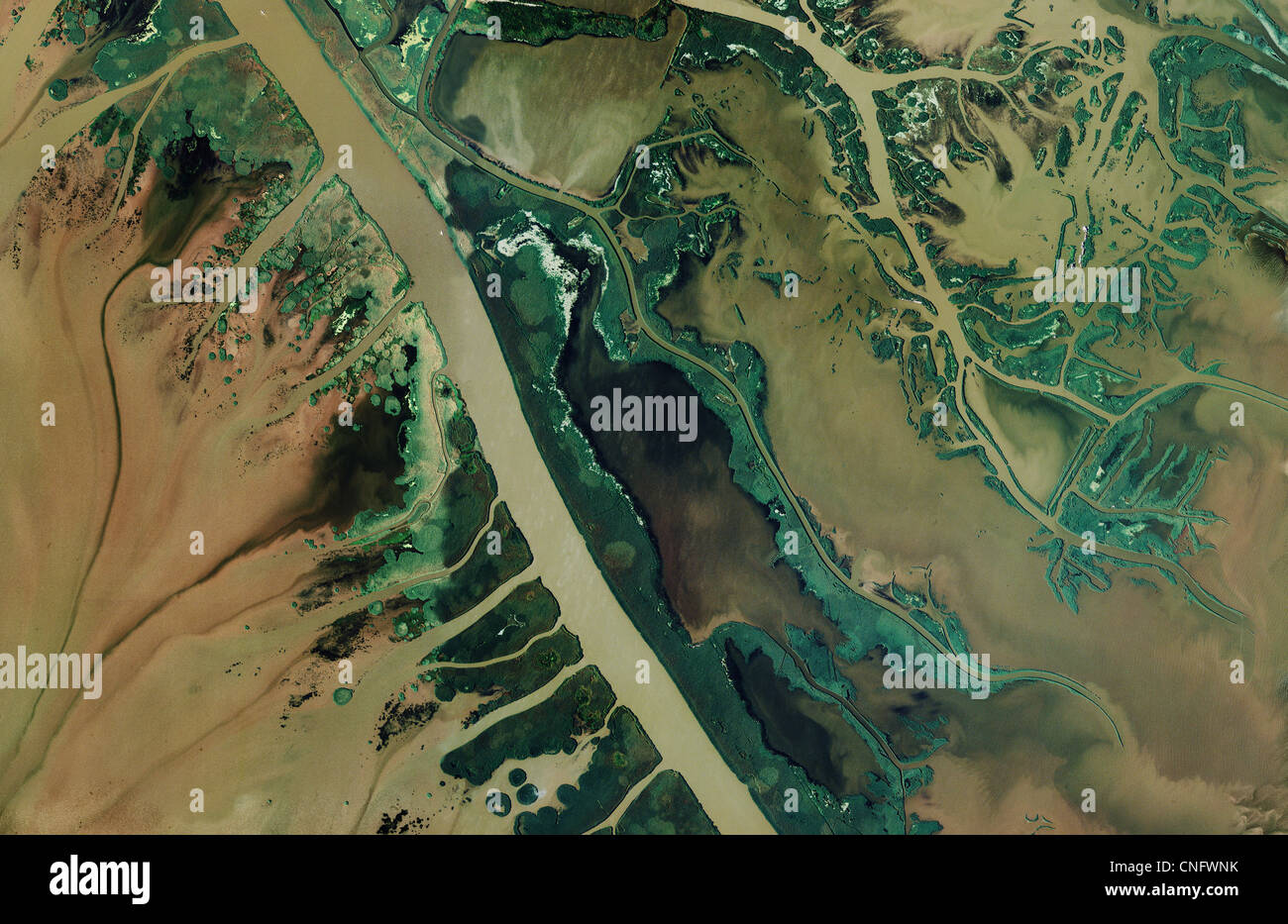Aerial Photo Map Of Mississippi River Delta Louisiana Stock Photo - Mississippi river delta map