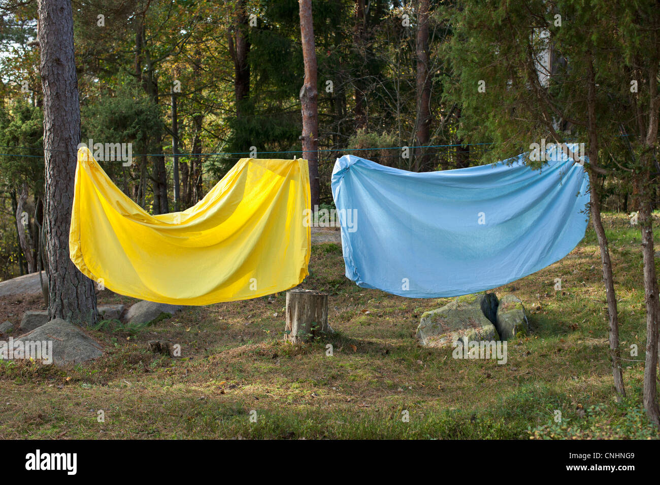 Bed sheet hanging - Bed Sheet Hanging On A Clothes Line