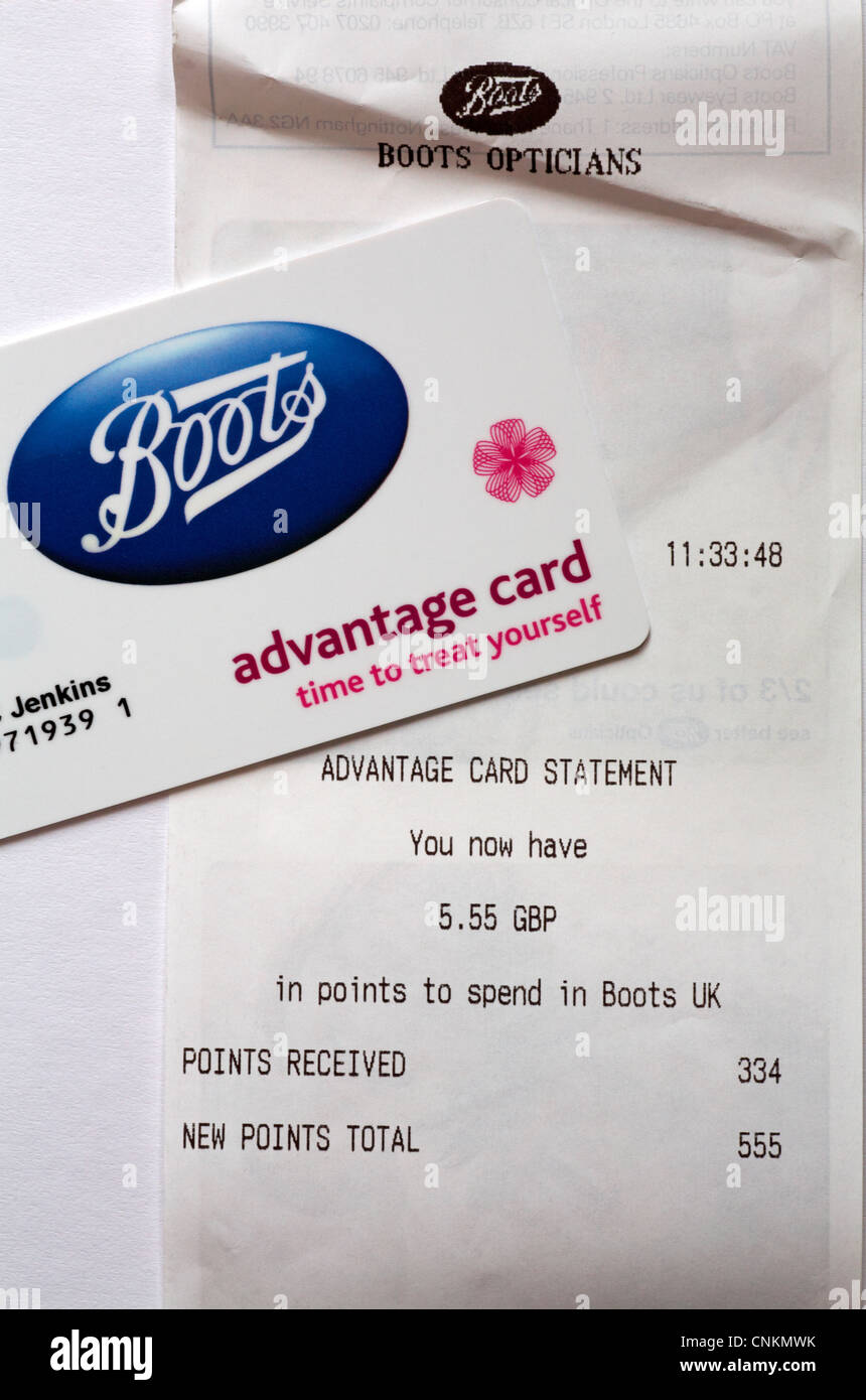 boots advantage card with advantage card statement showing number and stock photo royalty free. Black Bedroom Furniture Sets. Home Design Ideas