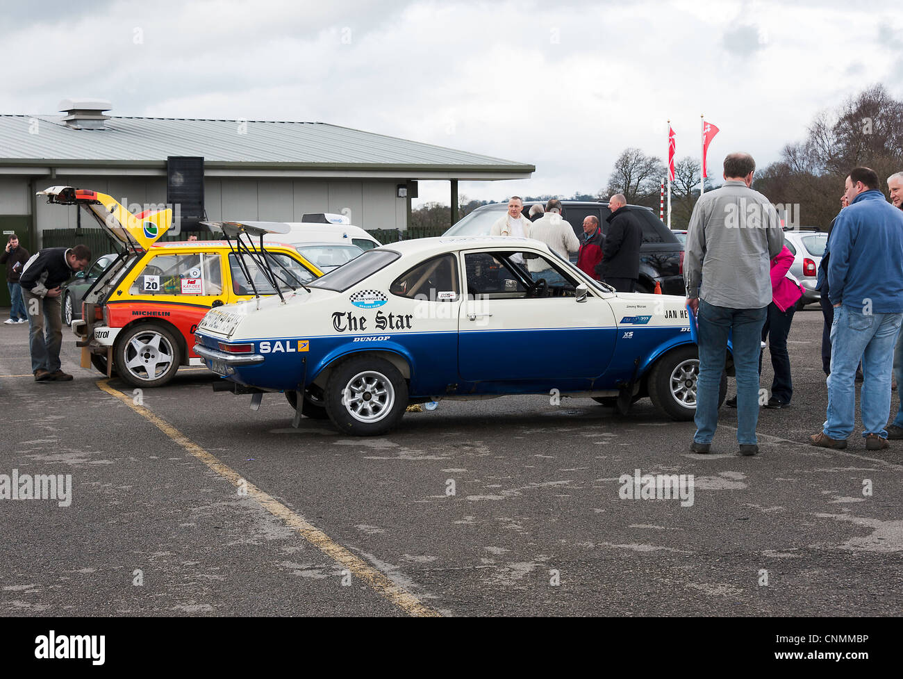 Chevrolet Firenza and Mini Metro 6R4 Rally Cars in the Paddock at ...