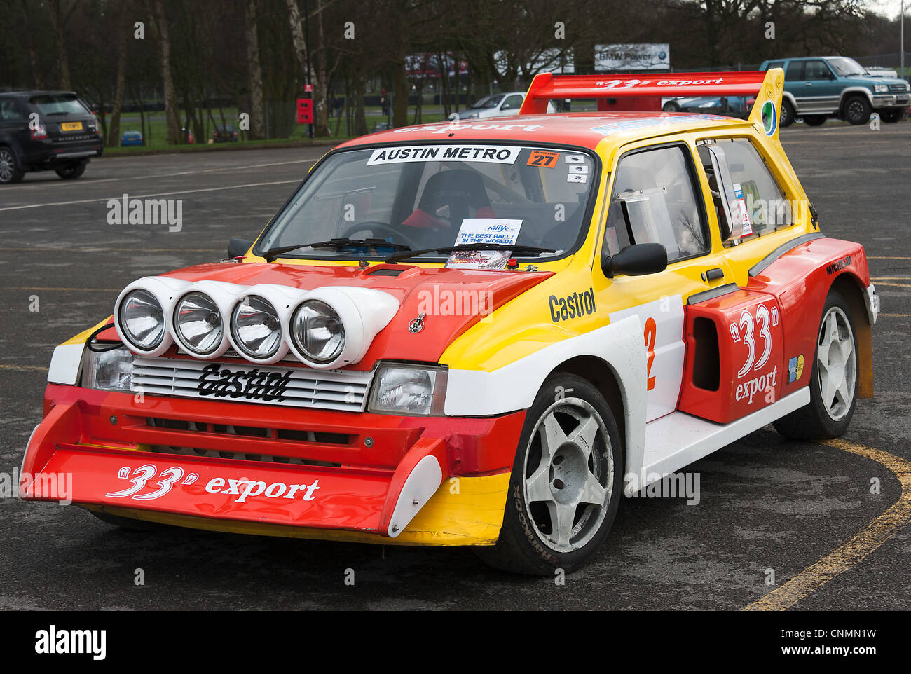 Austin Mini Metro 6R4 Rally Car in the Paddock at Oulton Park ...