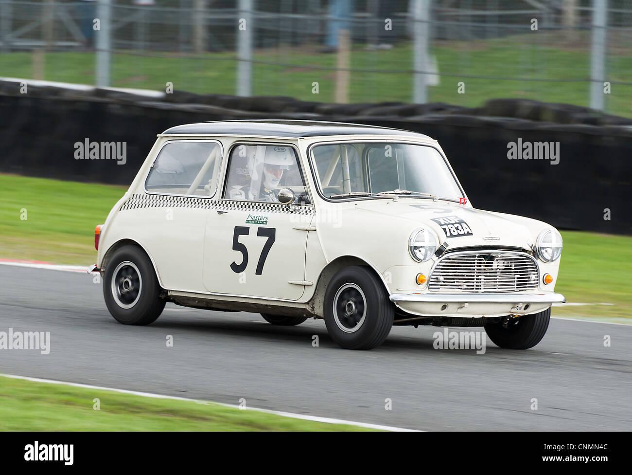 Austin Mini Cooper S Race Car at Oulton Park Motor Racing Circuit ...