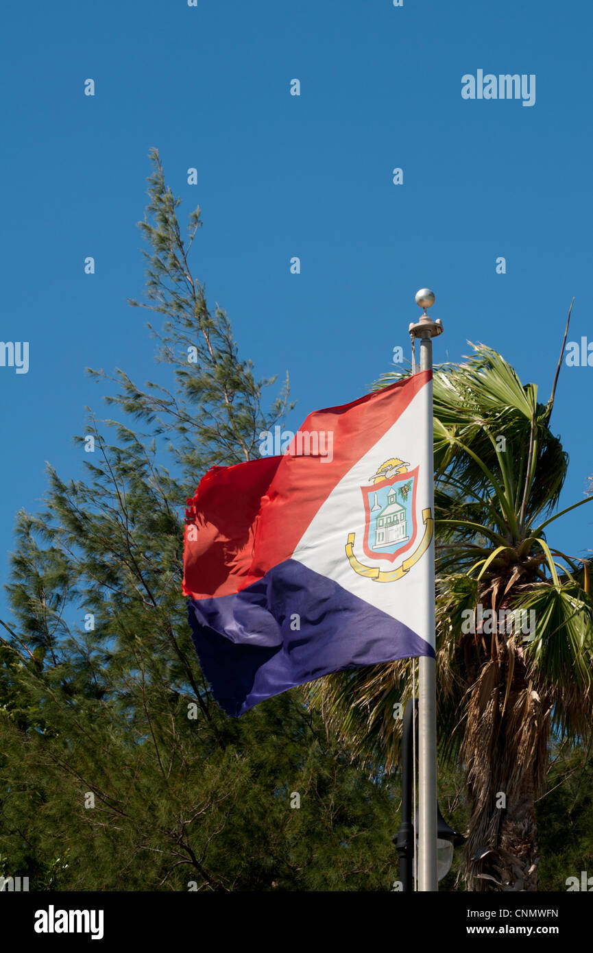 Saint Maarten National Flag Philipsburg Sint The West Indies