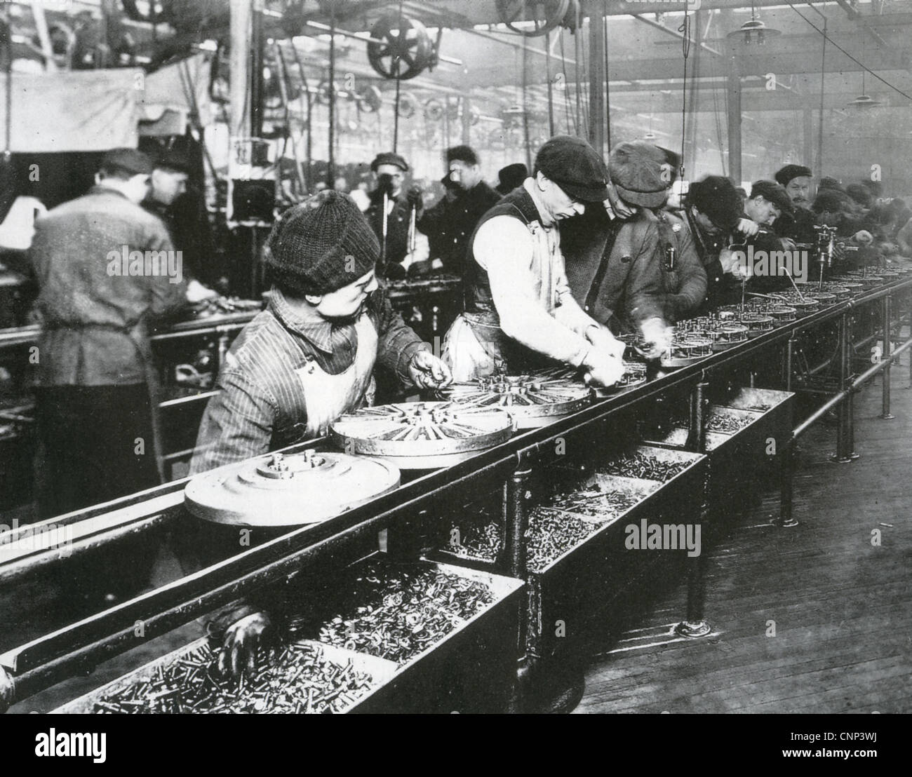 FORD MOTOR COMPANY Assembly Line About 1914