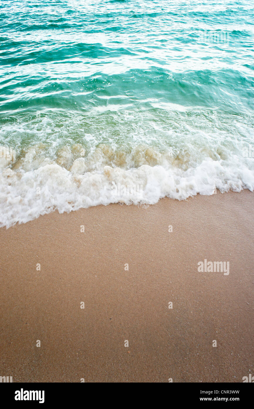 Sand Beach Water Wave Background