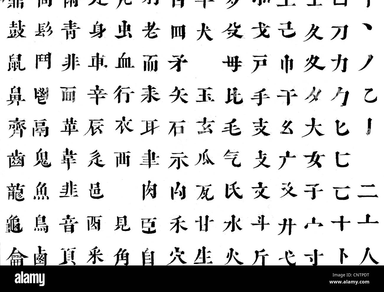 Chinese characters black and white stock photos images alamy script chinese characters excerpt from the chinese alphabet alphabetic character china biocorpaavc Gallery