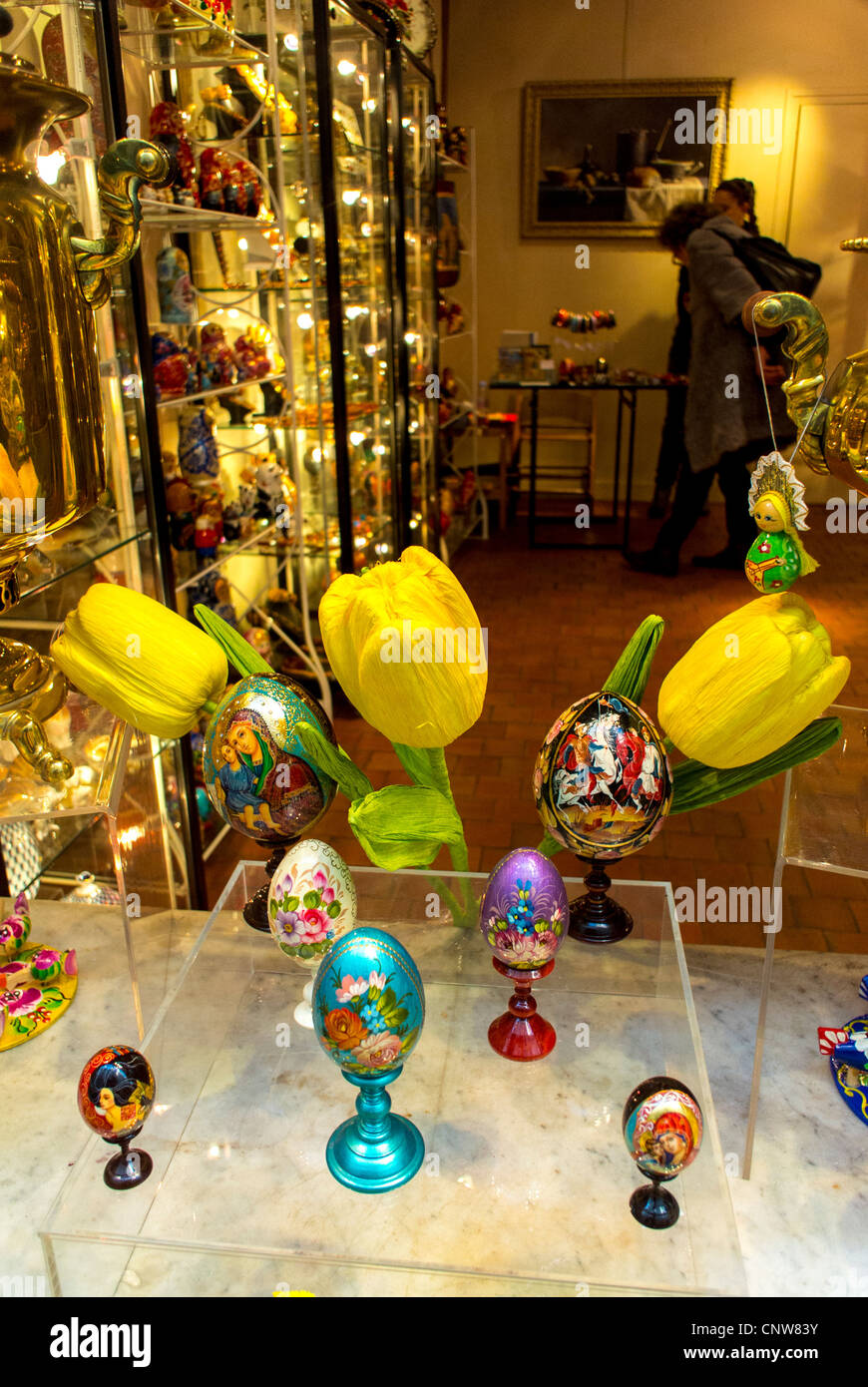 paris france art gallery gift shop window display easter eggs stock photo royalty free. Black Bedroom Furniture Sets. Home Design Ideas