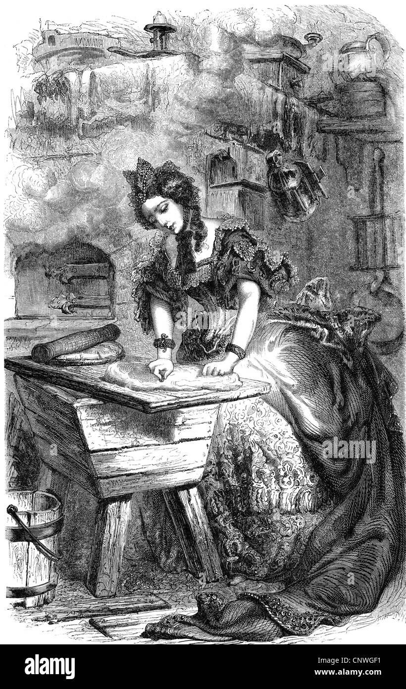 Uncategorized Perrault Fairy Tales literature fairy tales donkeyskin peau dane by charles perrault 1628 1703 scene the cake princess rolling pastry w