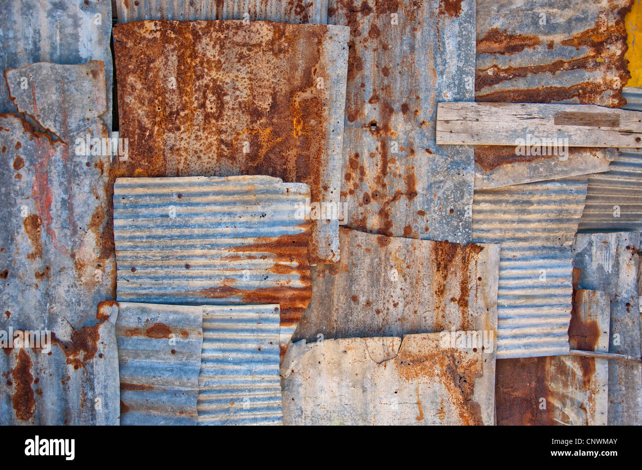 An Abstract Background Image Of Rusty Corrugated Iron