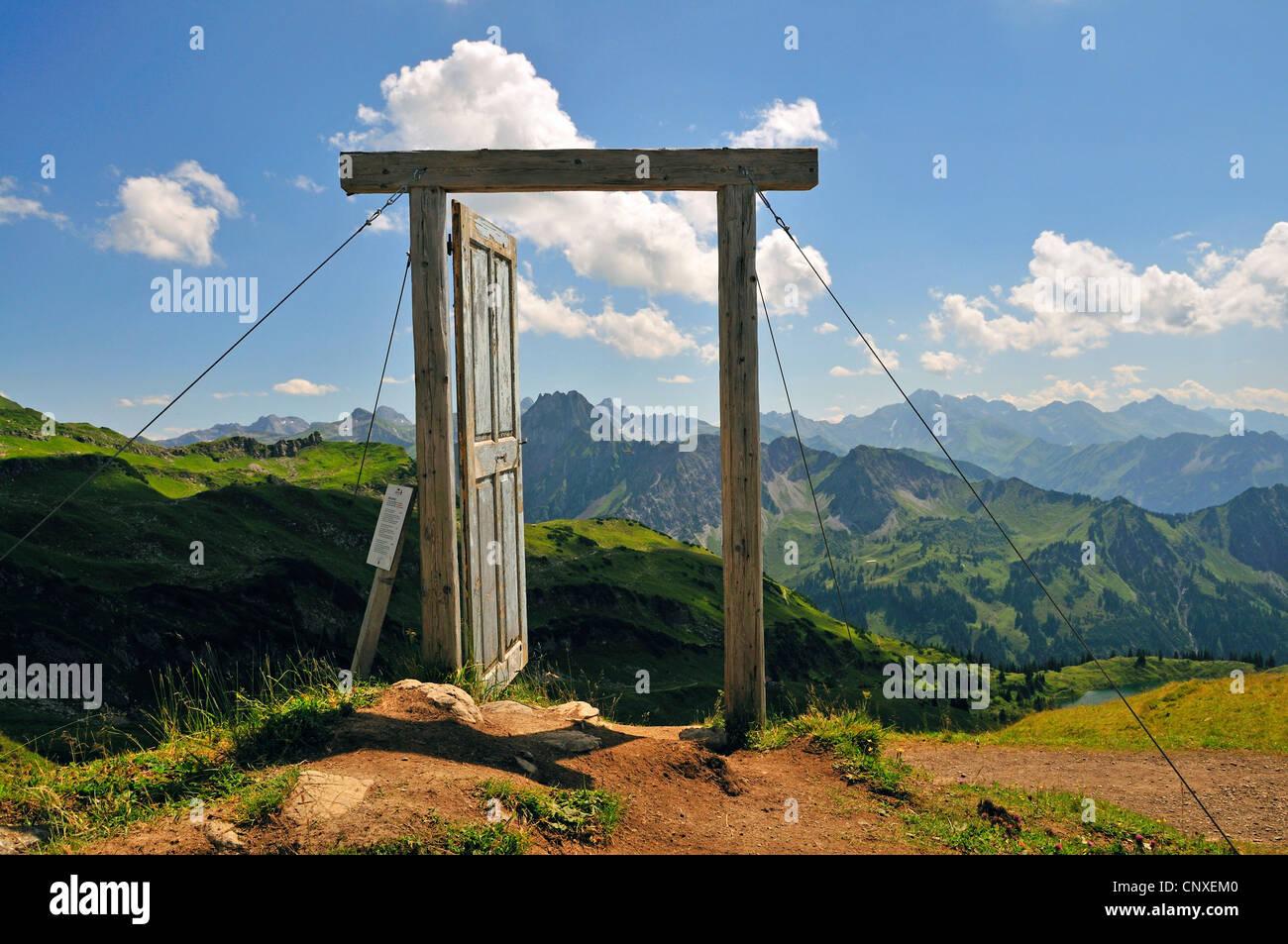 part of the projekt \u0027Open the door to another world\u0027 Porta Alpinae at Nebelhorn Germany Bavaria Allgaeu Allgaeu Alps & part of the projekt \u0027Open the door to another world\u0027 Porta ...