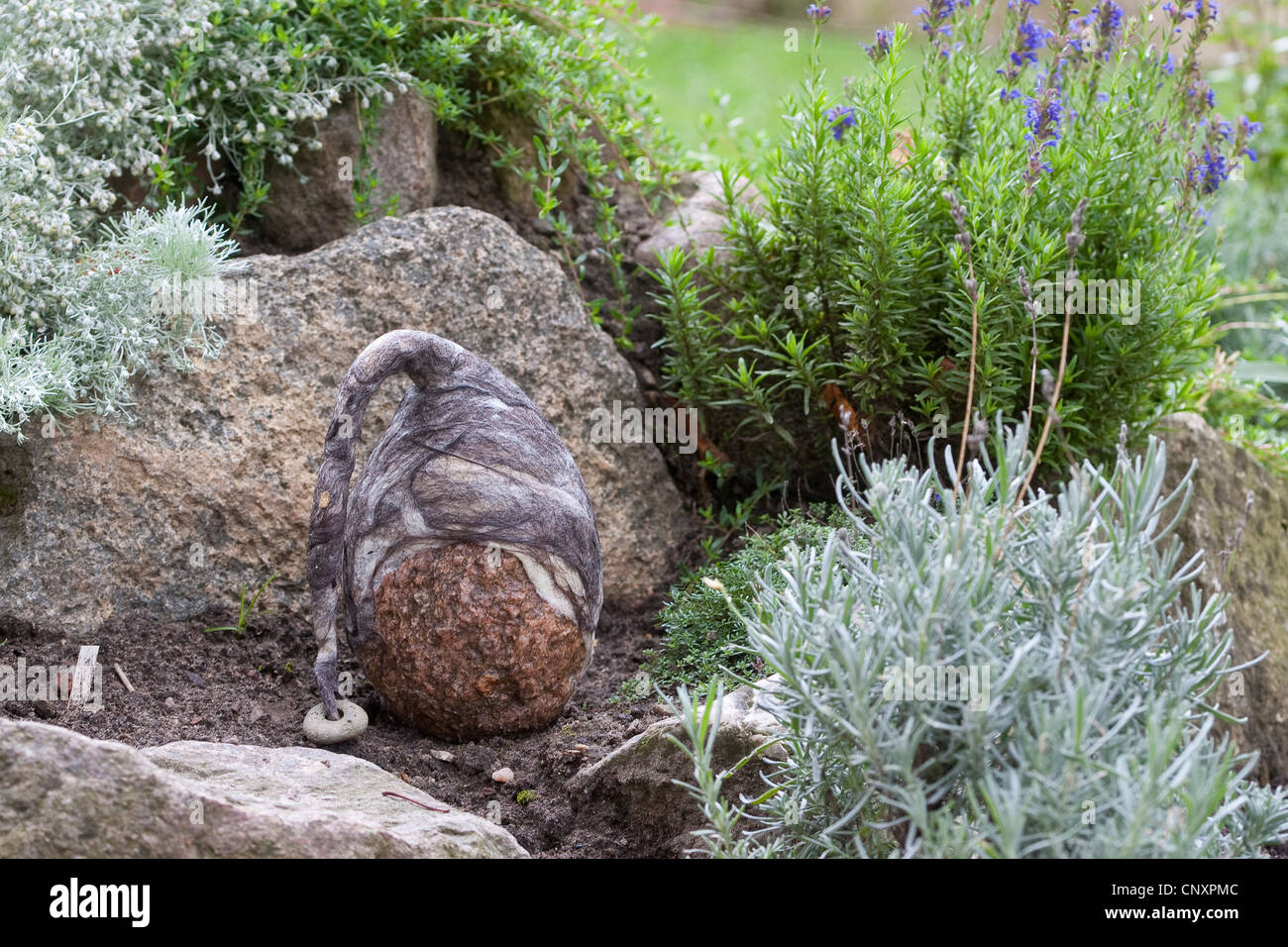Decorative Stones For Flower Beds Felt Stone Troll Serving As Garden Decoration A Natural Stone