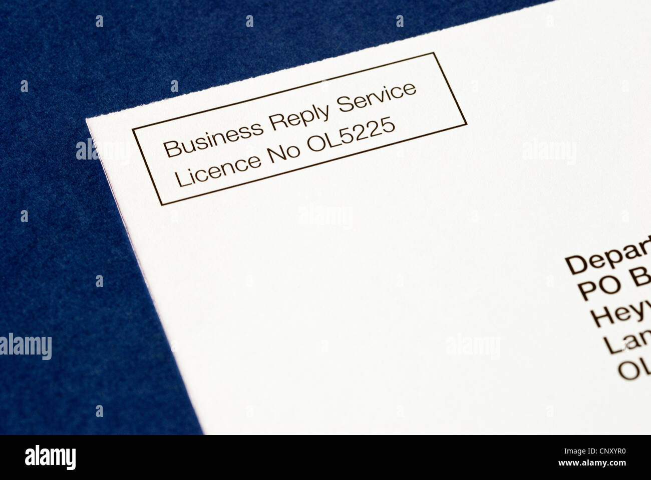 UK Royal Mail prepaid printed Business Reply Service postcard ...