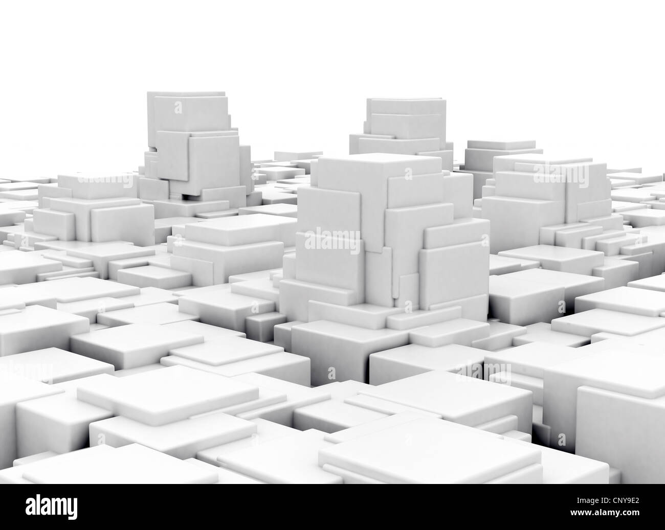 Abstract 3d City Model Futuristic Design