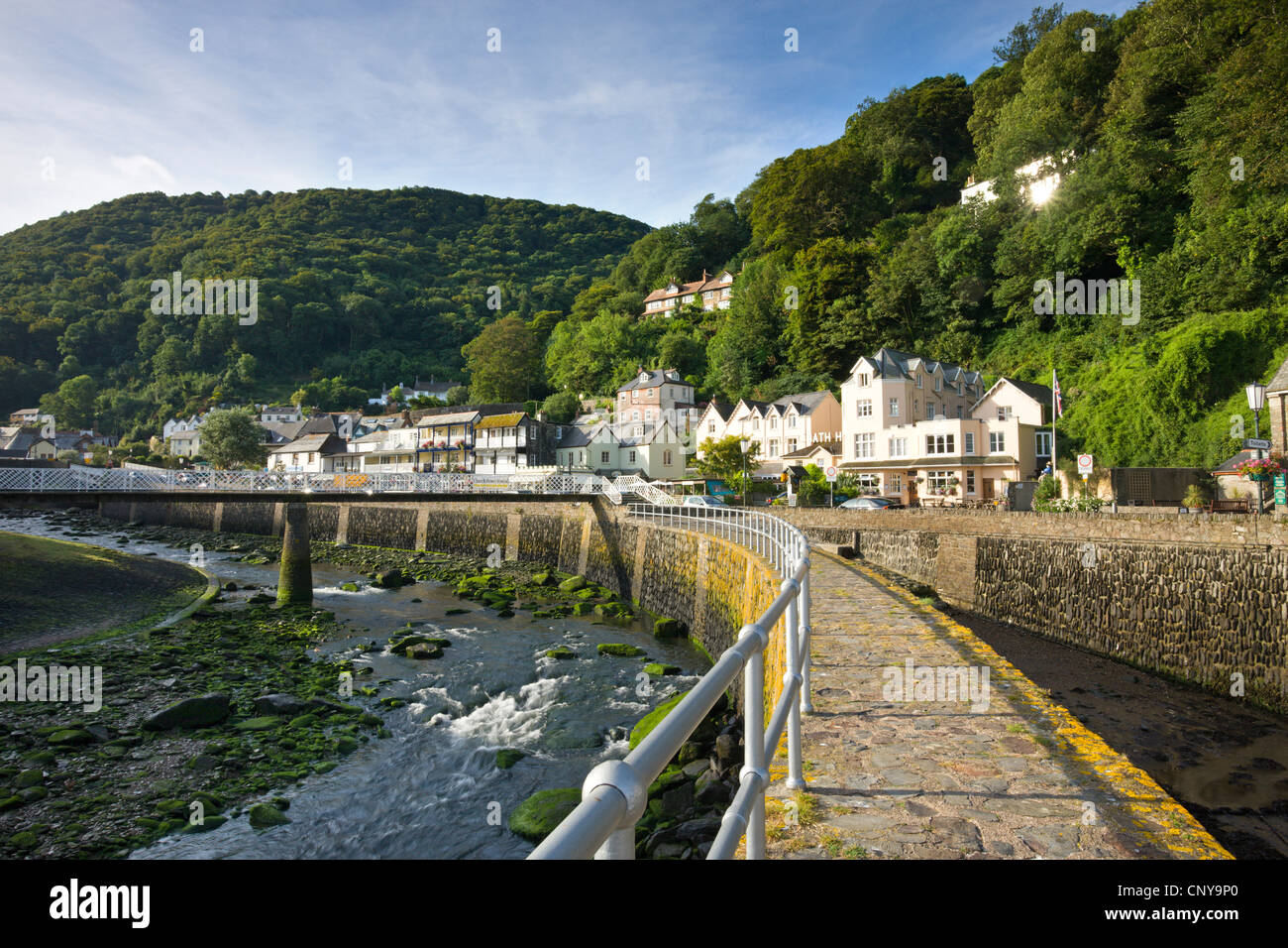 Coastal Village of Lynmouth on