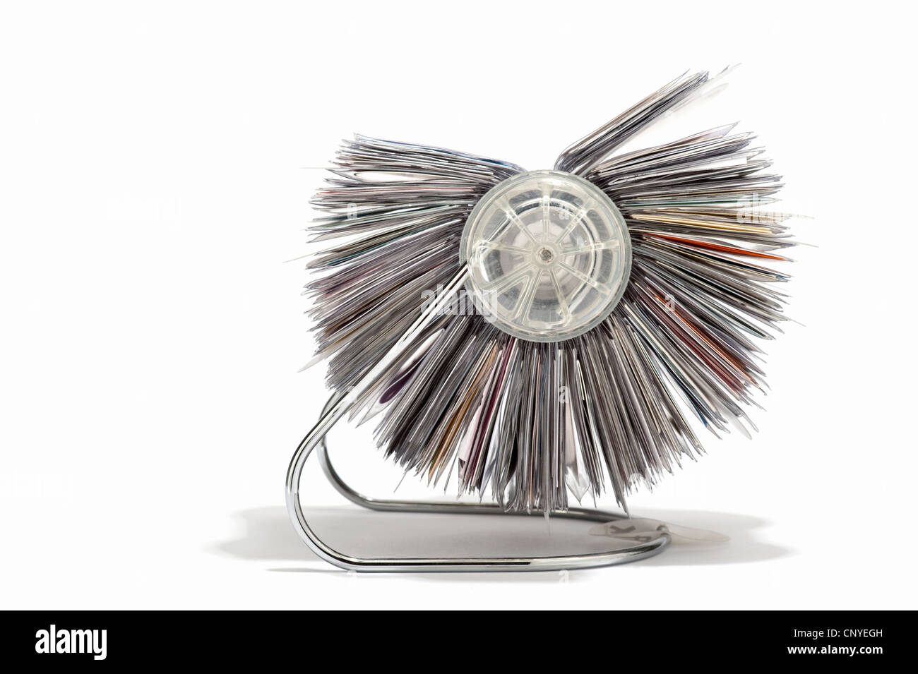 A rotary business card holder side view stock photo 47932657 alamy a rotary business card holder side view reheart Image collections