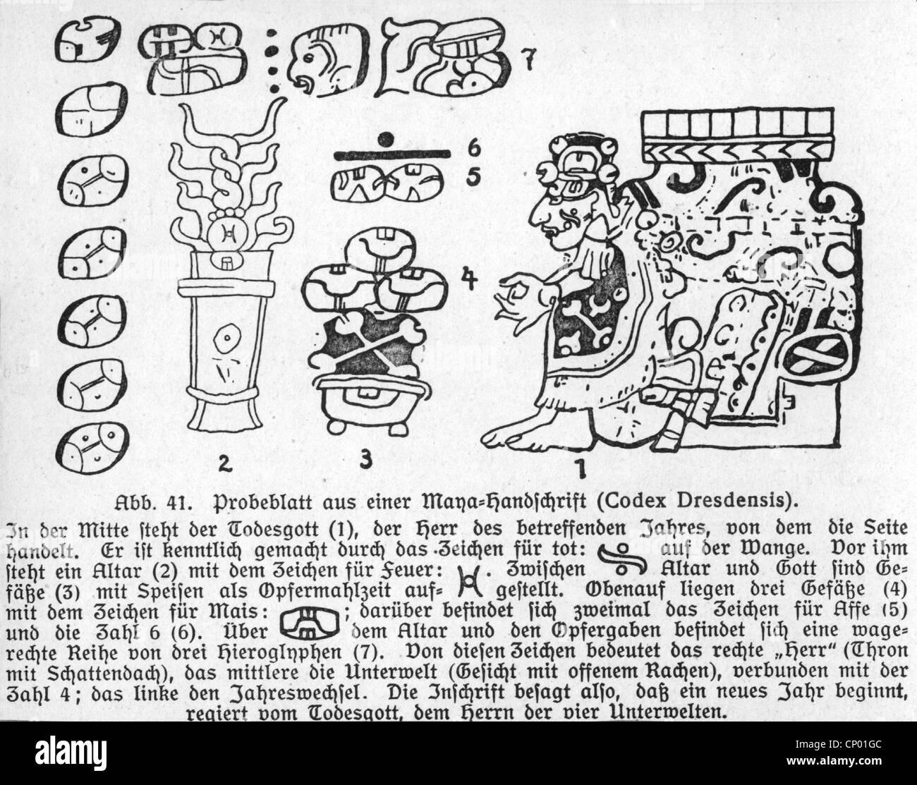 mayan codex stock photos u0026 mayan codex stock images alamy