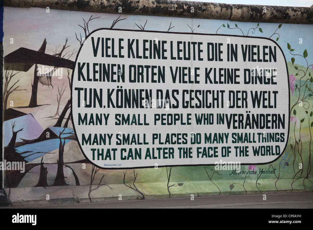 Quotes About Painting Berlin Wall East Side Gallery Quote Painting In German And English