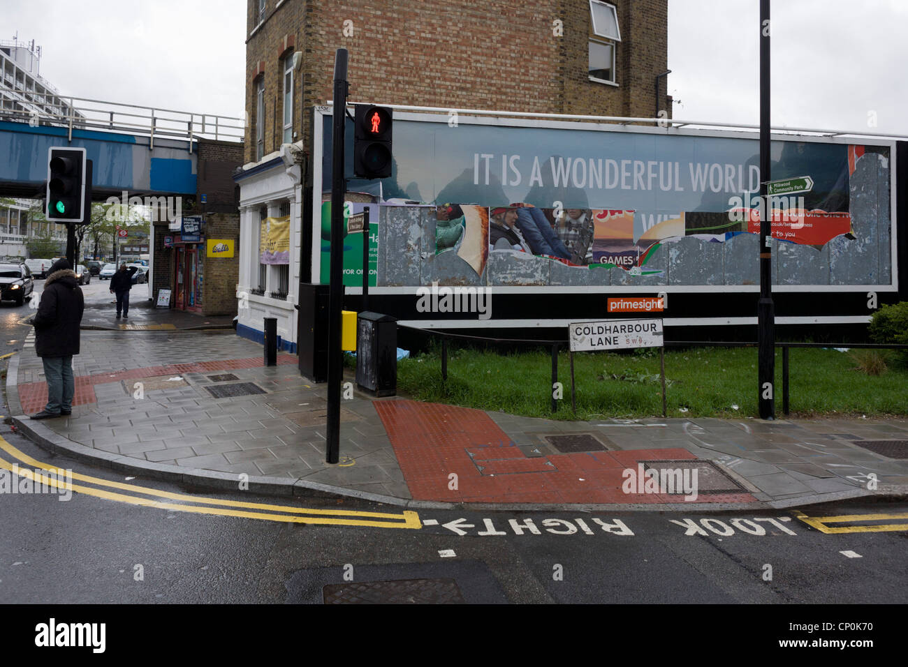 Peeling Billboard Reveals Older Layers Of Primesight Street Stock - Street advertising
