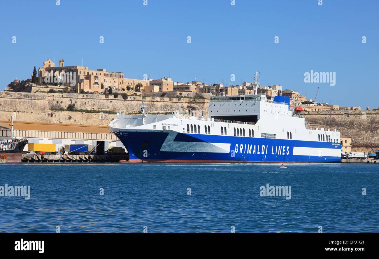 Grimaldi Lines Ro Ro Cargo Vessel Eurocargo Venezia In