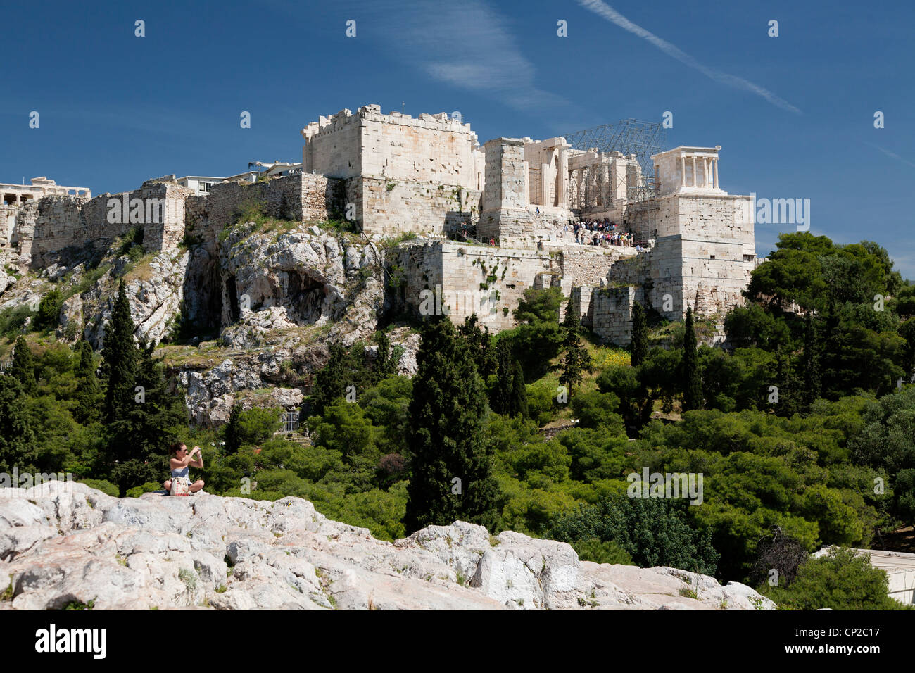 Acropolis of Athens view from Areopagus hill. Athens ...