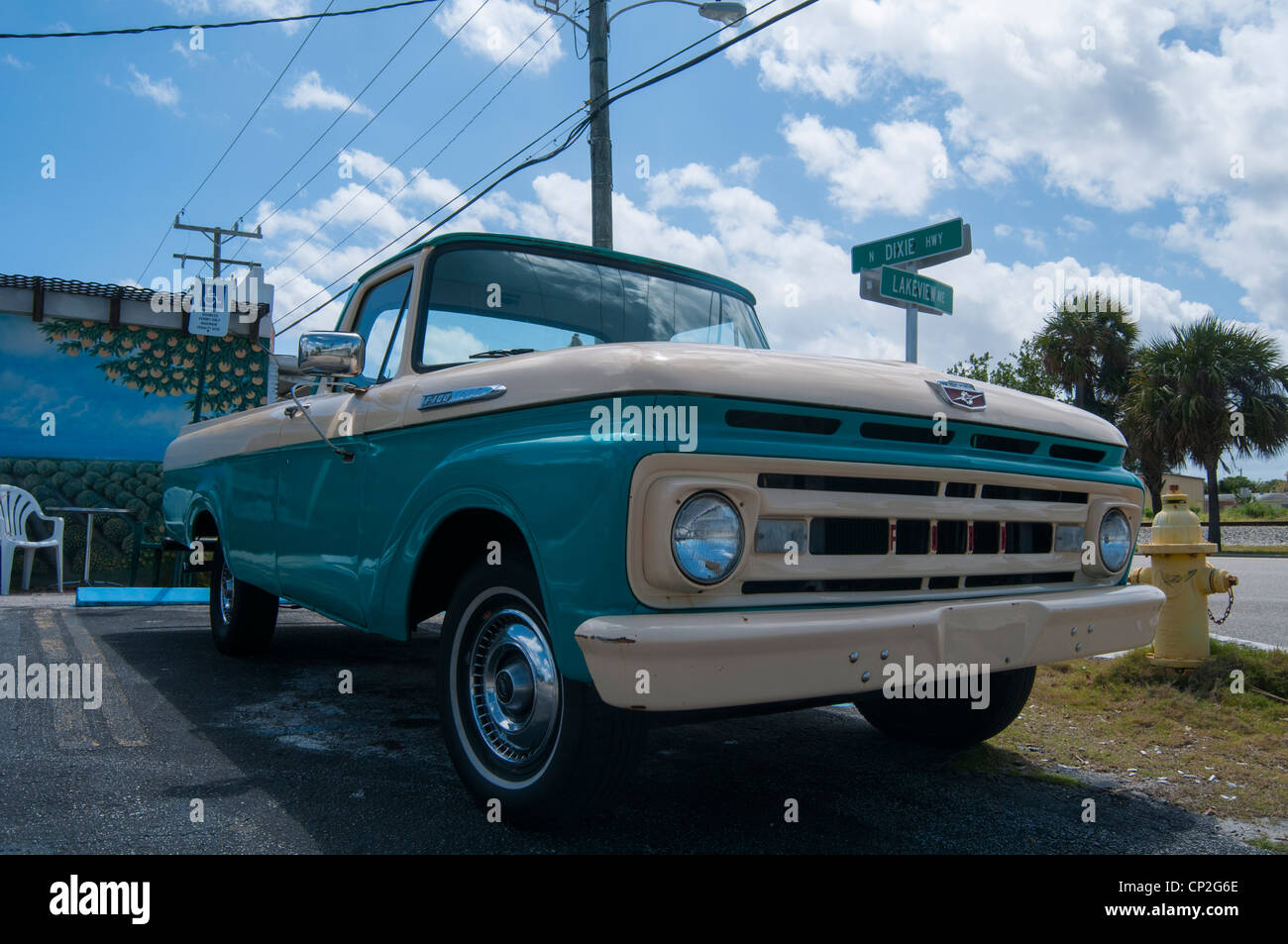 Old Ford pick-up truck in Florida Stock Photo, Royalty Free Image ...