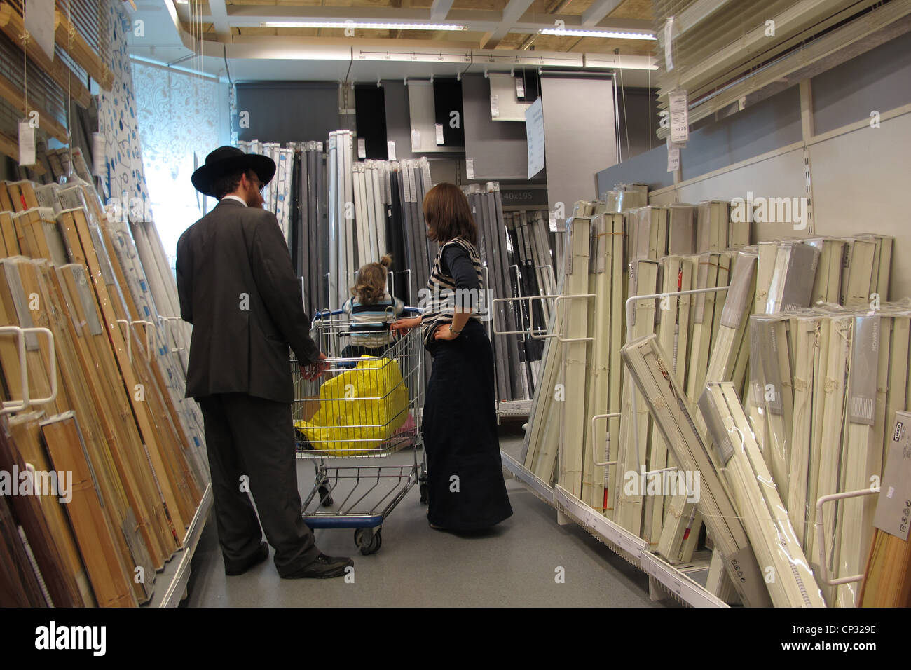 Beautiful An Ultra Orthodox Jewish Family In Ikea Furniture Retailer Store In Israel