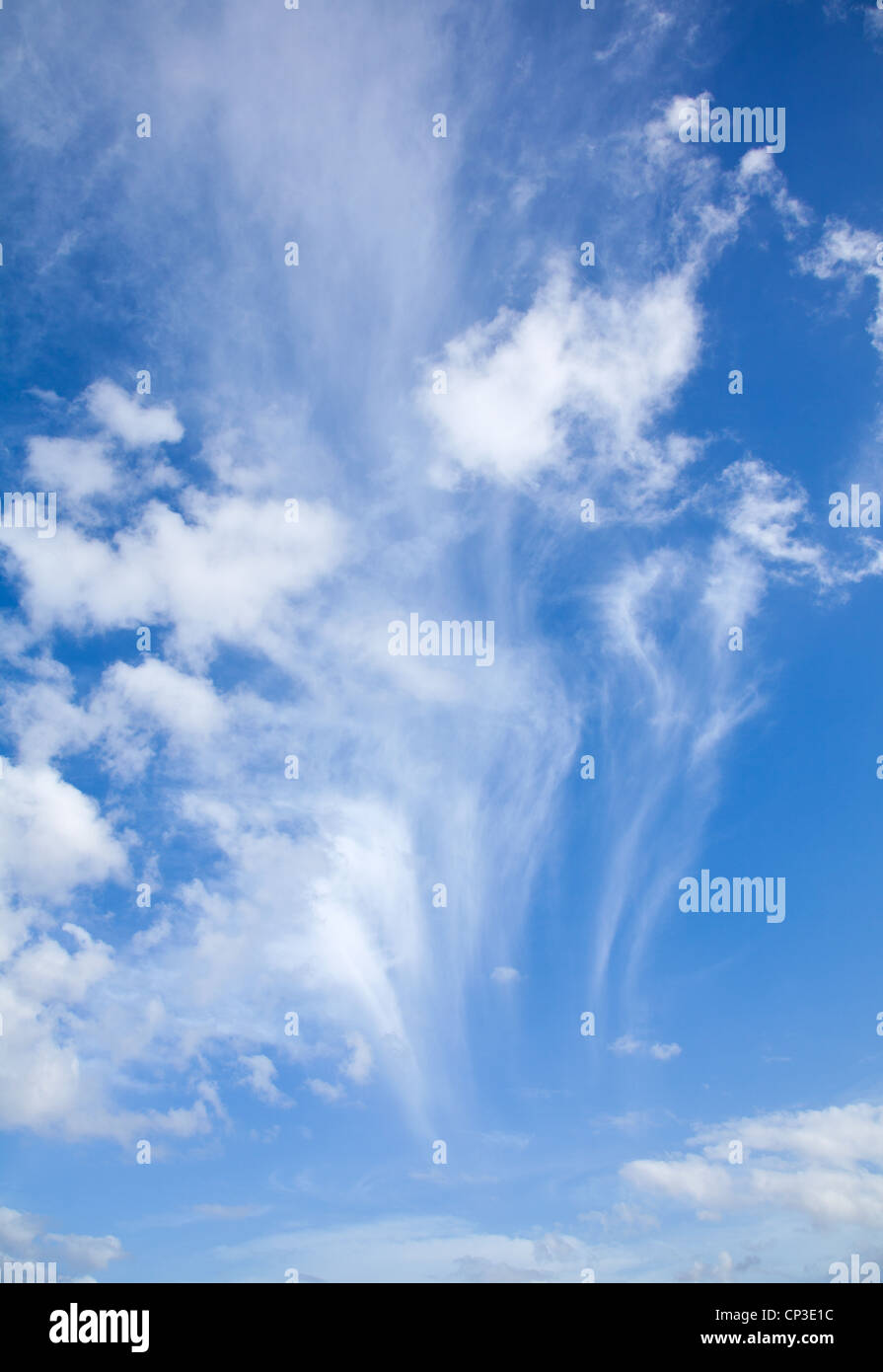 sky with different types of clouds, vertical Stock Photo: 48020040 ...