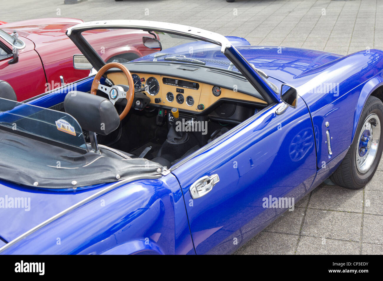 vintage race car triumph spitfire mk interior from 1964 stock photo royalty free image. Black Bedroom Furniture Sets. Home Design Ideas