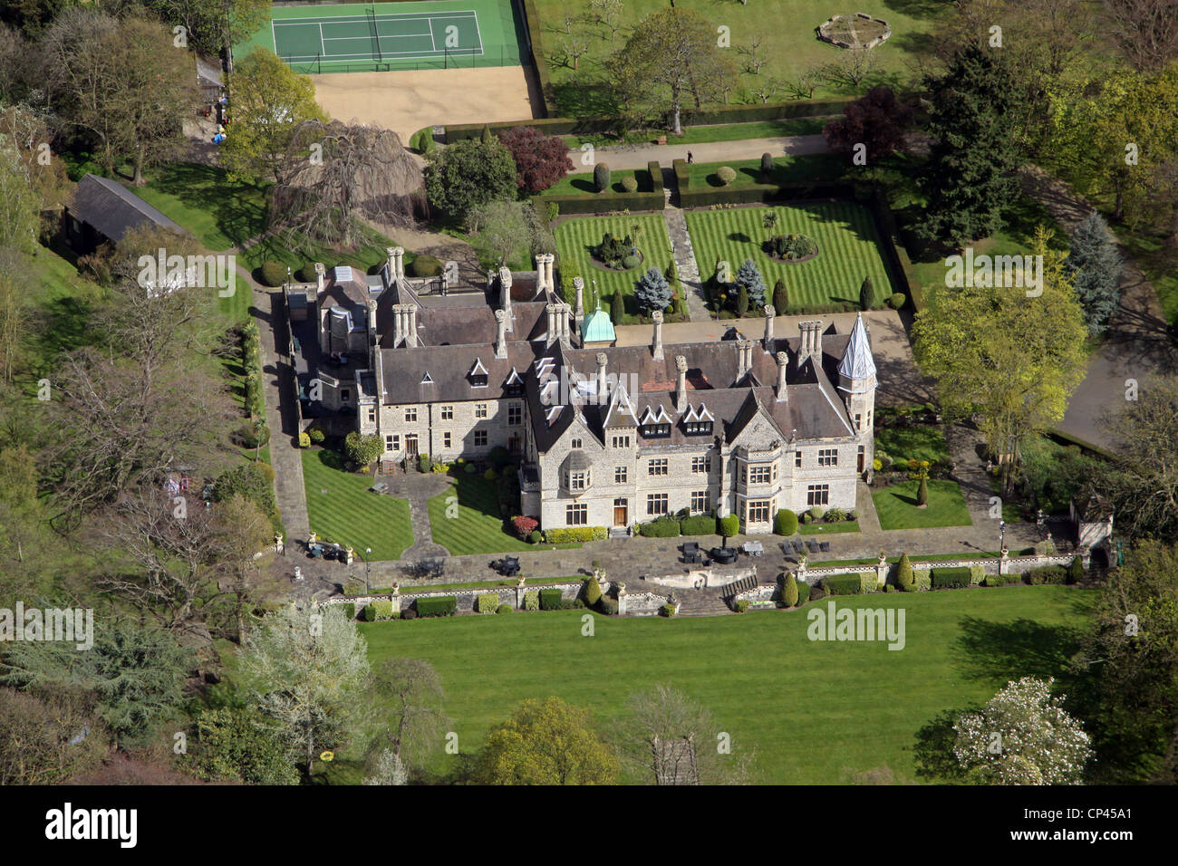 Aerial view of foxbury manor chislehurst stock photo for See images of my house