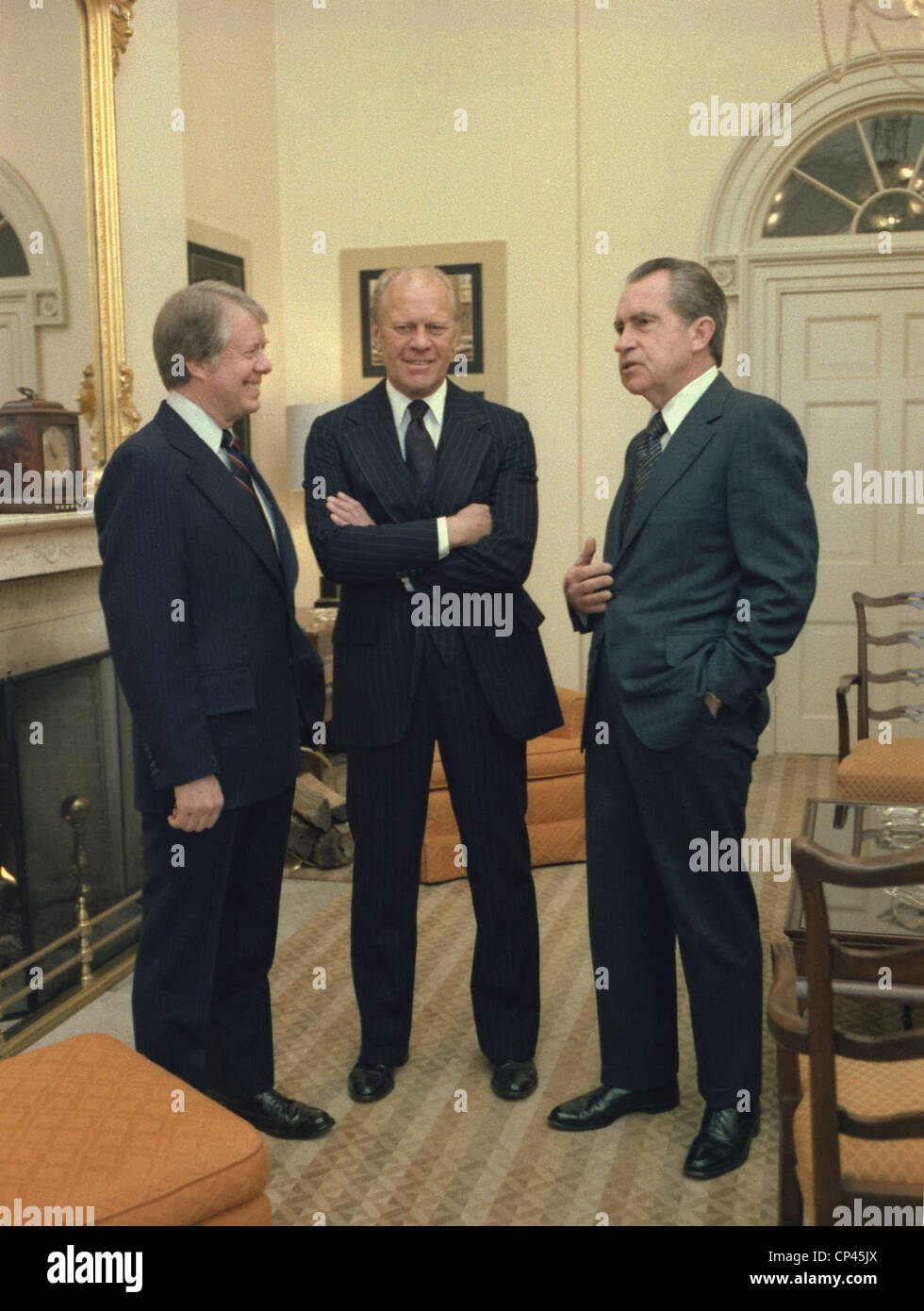 Jimmy Carter Gerald Ford And Richard Nixon Gather At The