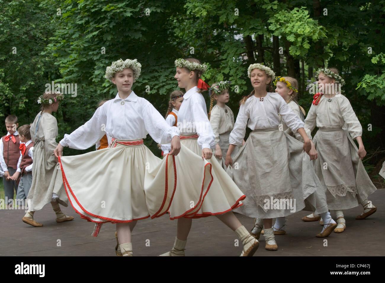 Woman Latvian Woman Dancing