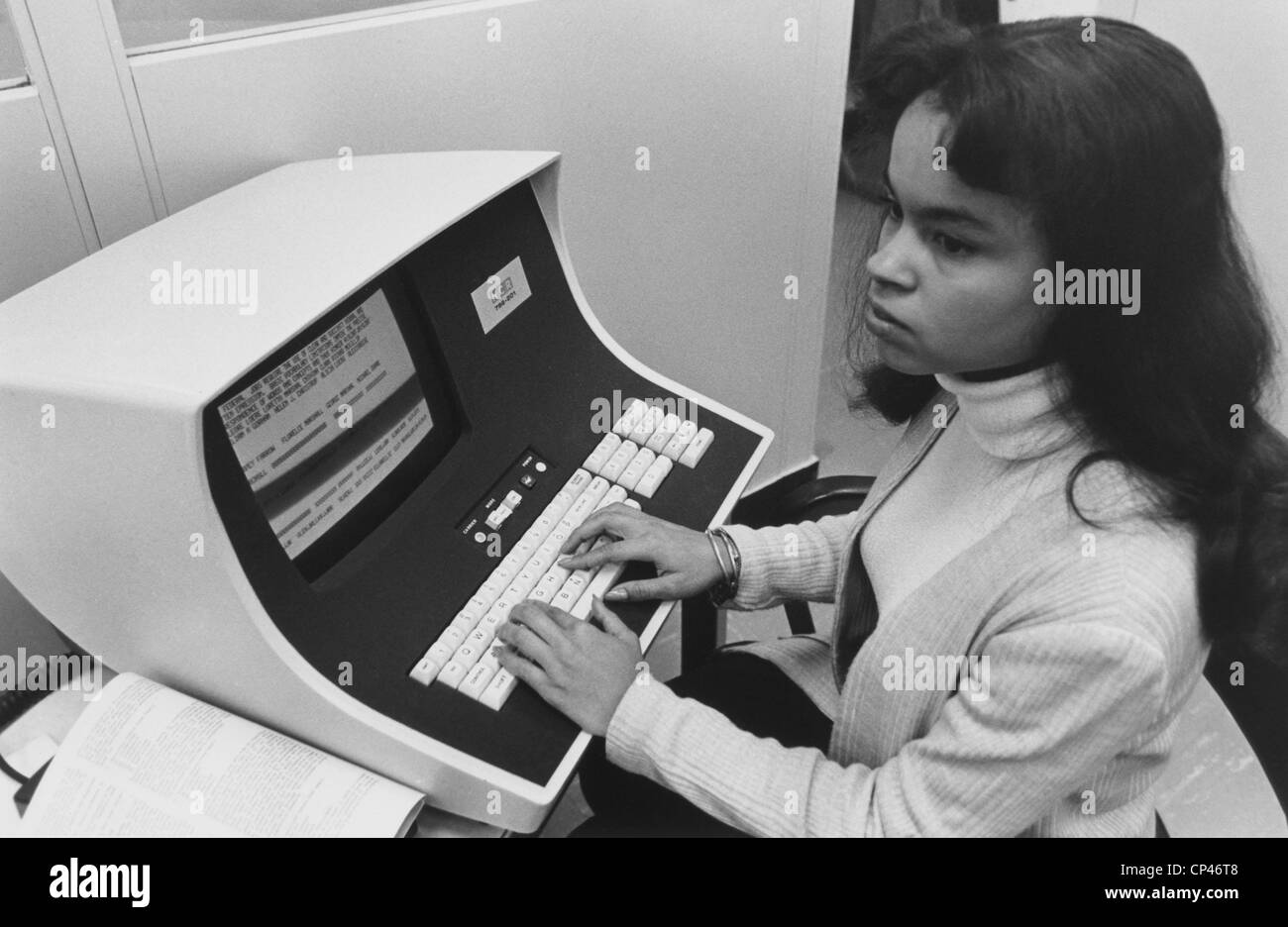 operator and w black and white stock photos images alamy african american w computer operator at the us civil service commission in the 1970s