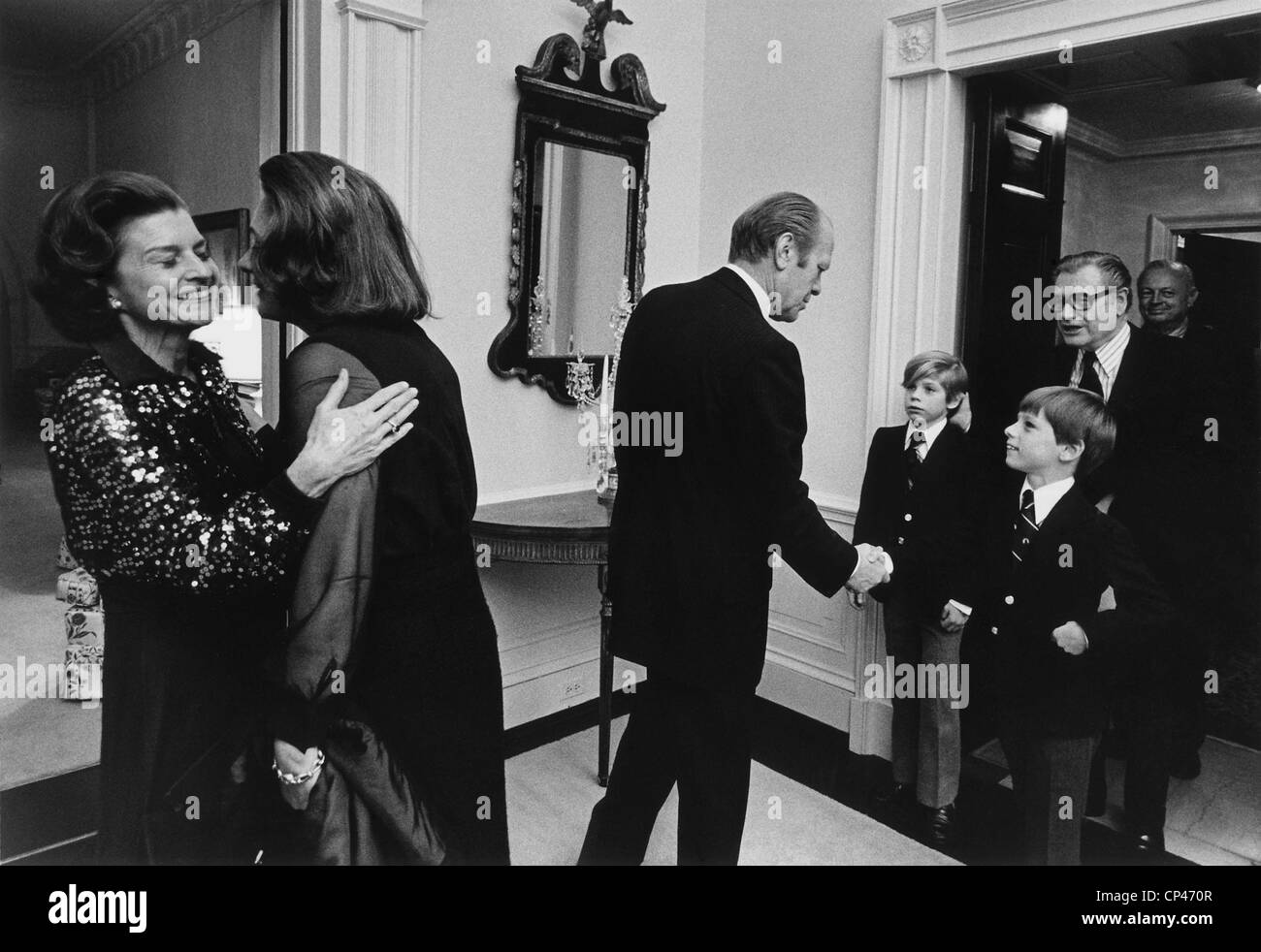 First Lady Betty Ford And Happy Rockefeller Embrace As
