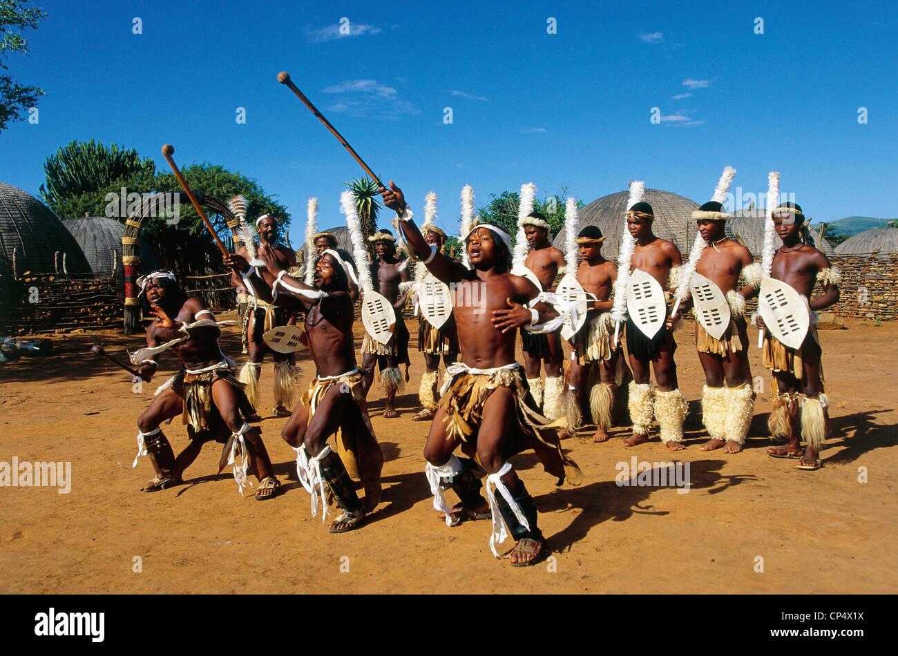 Zulu traditional dress in zulu kraal kwazulu natal - South Africa Kwazulu Natal Traditional Dance Ngoma In A Zulu Village