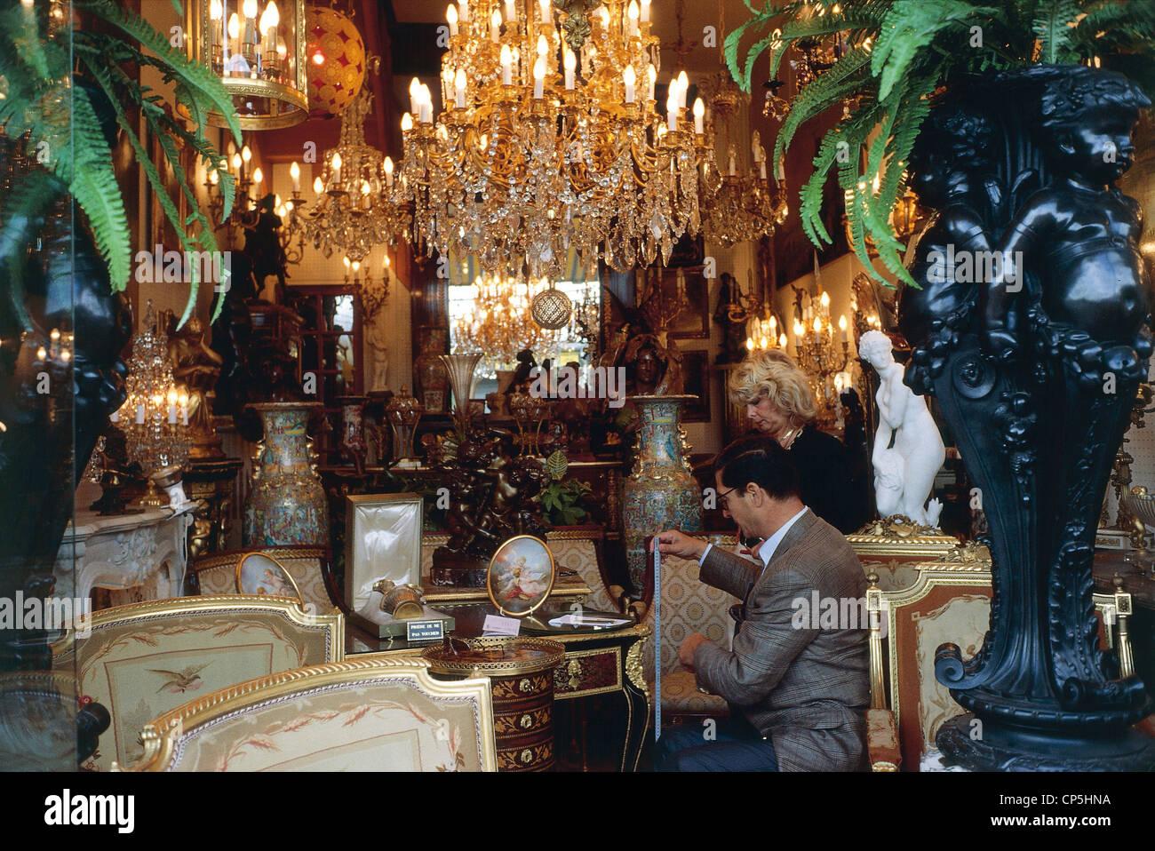 france paris saint ouen marche biron flea market stock photo royalty free image 48066854. Black Bedroom Furniture Sets. Home Design Ideas