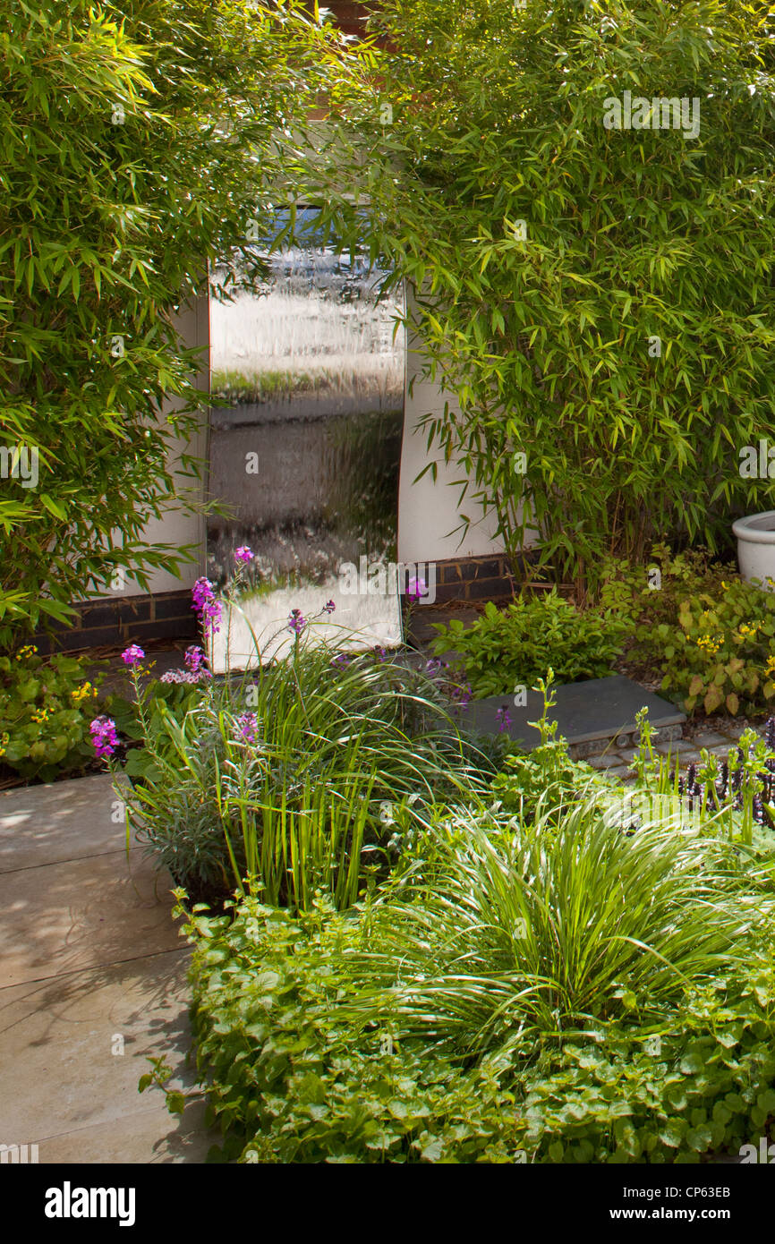 Modern Water Features Steel Wall Water Feature In Modern Contemporary Enclosed English