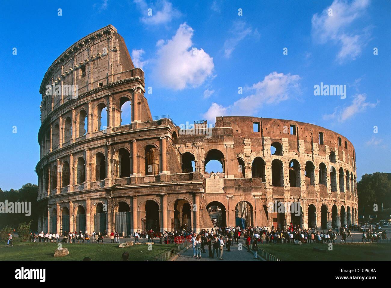 Roman Architecture Colosseum lazio - rome, the colosseum or flavian amphitheatre, 70-80 ad