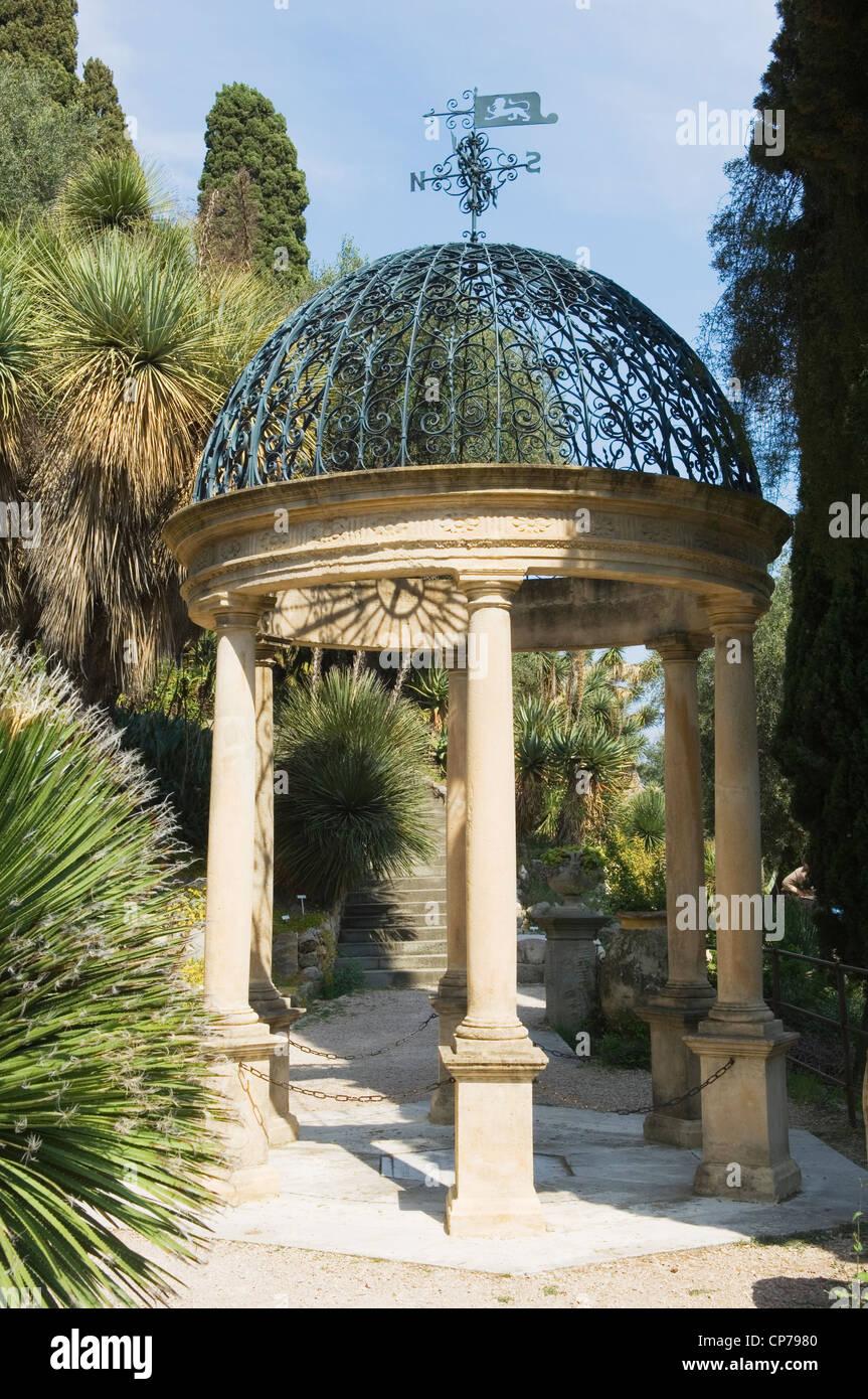 Small Open Pavillion In Hanbury Botanic Gardens Near