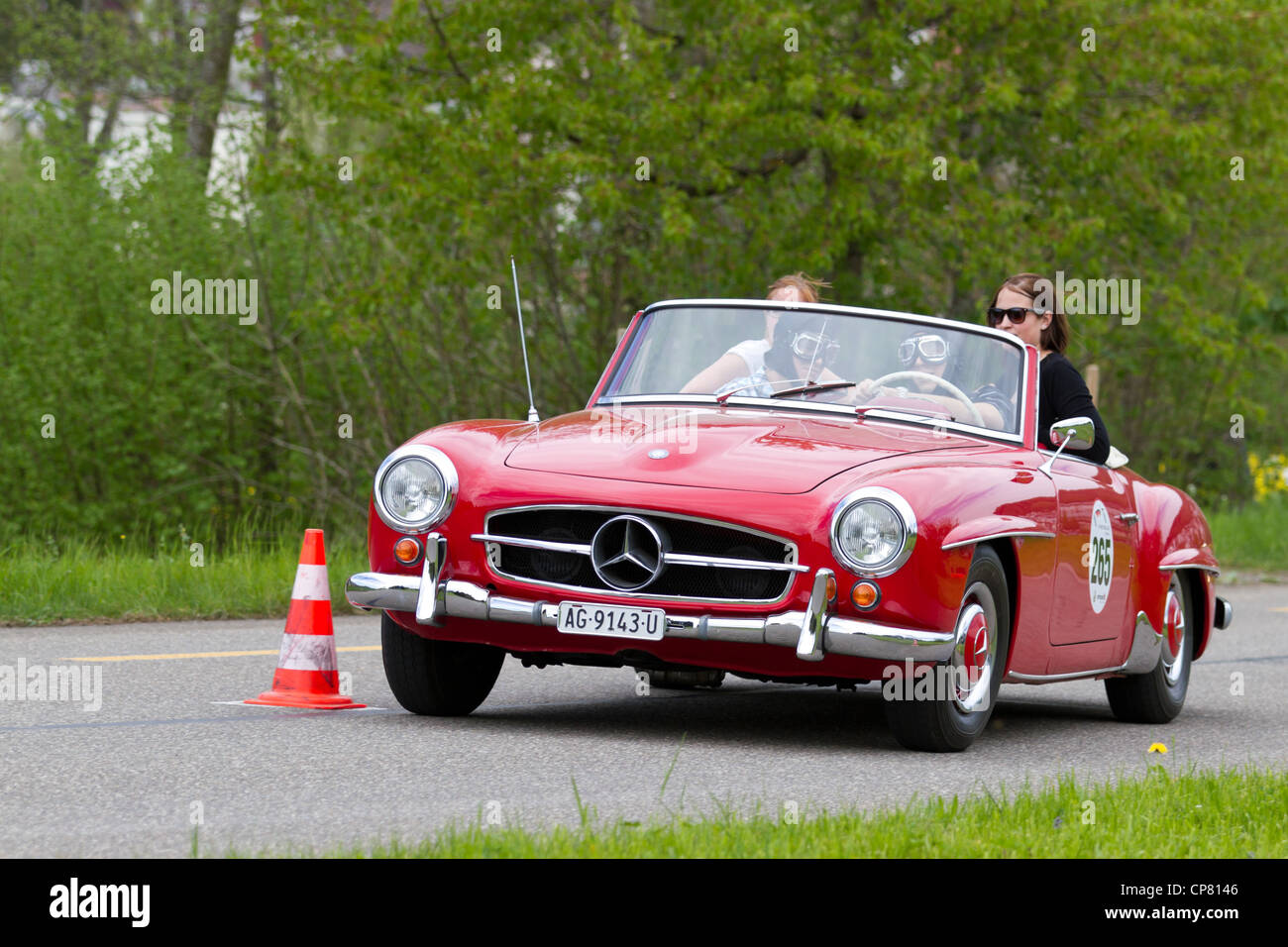 vintage car mercedes benz 190 sl from 1960 at grand prix in stock photo royalty free image. Black Bedroom Furniture Sets. Home Design Ideas