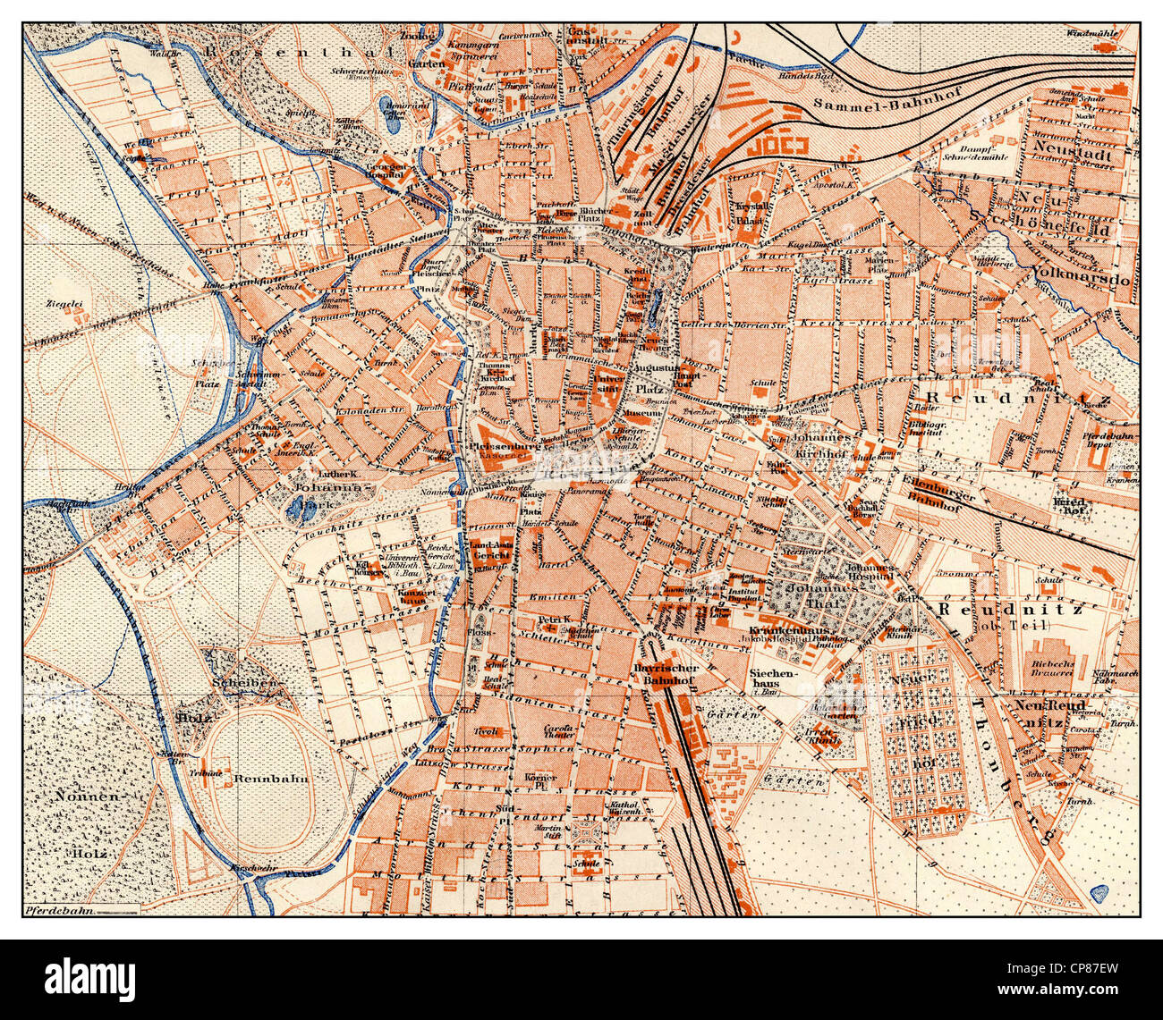 Map Of Germany Th Century Stock Photos Map Of Germany Th - Map of leipzig